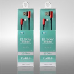 Wholesale Boxes Packaging Australia - 90 Degree Double Elbow Fast charging line Charger Sync Data Cable Android Micro USB Cble Type C USB Charging Cables with Box Package car