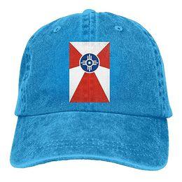$enCountryForm.capitalKeyWord UK - 2019 New Cool Baseball Caps Flag of Wichita Kansas Trend Printing Cowboy Hat Fashion Baseball Cap for Men and Women Black