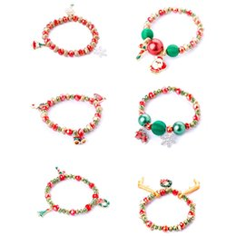 bracelets linens Australia - 2019 Christmas Santa Claus Bracelet Merry Christmas Decor For Home Noel 2020 Happy New Year Ornaments Xmas Gift