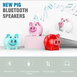 Discount sp audio A01 Cute Cartoon Pig Portsble Mini Bluetooth Wireless Speaker support FM Radio and TF card Portable Mini Lovely Sp