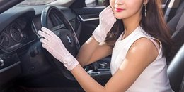 $enCountryForm.capitalKeyWord Australia - New Sunscreen Gloves, Women Summer Ultraviolet-proof Thin Short Lady Touch Screen, Lace Ice Gloves for Driving