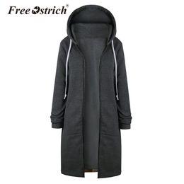 $enCountryForm.capitalKeyWord Australia - Free Ostrich Sweatshirt Women Warm Zipper Long Coat Jacket Tops Outwear Hoodies Hoodie Sudadera Mujer L1825