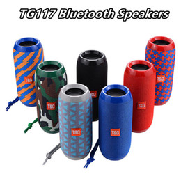 Usb Radio Box Australia - TG117 Bluetooth Computer Speakers Waterproof Portable Outdoor Speaker FM radio Boombox AUX TF USB Player sound with retail box