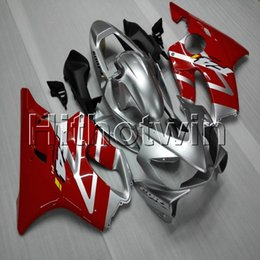 F4i Silver Red Australia - Gifts+Screws Injection mold red silver motorcycle cowl for HONDA CBR600F4i 2001-2003 F4i 01 02 03 ABS Plastic motorcycle Fairing