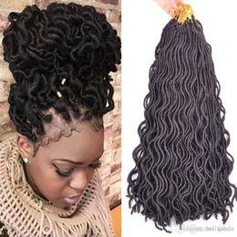 $enCountryForm.capitalKeyWord Australia - 18 inch Afro Fashion crochet curly dreadlocks hair Synthetic Crochet Braiding hair Havana Mambo Faux Locs Weaving 24roots lot