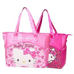 b74dadbe48 Cartoon Hello Kitty Handbags Girl Reusable Clothes Shoulder Bag Fashion  Daily Essentials Organizer Mummy Pouch Accessories Stuff