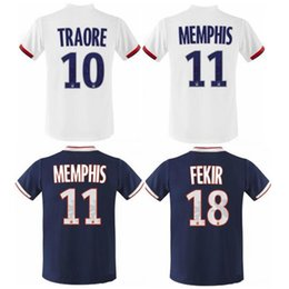 f48f6746db 2019 2020 Olympique Lyonnais LYON MEMPHIS FEKIR MAILLOT DE FOOT camisetas  thailand quality soccer jersey football shirt kit camiseta futbol