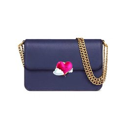 $enCountryForm.capitalKeyWord Australia - Designer Brand Women Handbag Shoulder Bag Cross-Body Metal Chain Strap Genuine Pebbled Leather with Polyester Lining Five color 48731