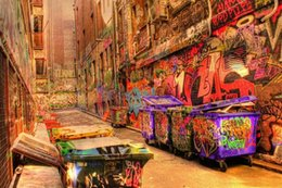 street art canvas prints NZ - Street graffiti Urban Art Melbourne High Quality HD Print Oil painting on canvas Home Decor Wall Art Multi Sizes  Frame g194