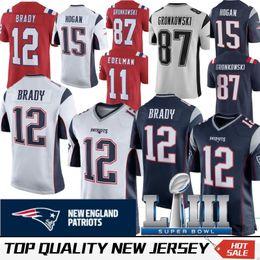 031065562 2019 New Super Bowl LIII 12 Tom Brady Patriots Jersey 87 Rob Gronkowski 11  Julian Edelman 14 Brandin Cooks 15 Chris Hogan 92 James Harrison