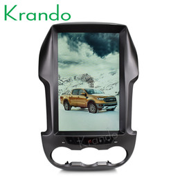 "Car Multimedia Player System Australia - Krando Android 7.1 12.1"" Tesla styal Vertical screen multimedia system for Ford Ranger F250 2011+ navigation player car dvd"