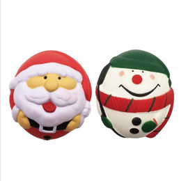 Chinese  low price 7cm Squishy colourfu christmas man toys cute ball penguins decompression kids gift toy Squishies for children kids Gift 336 manufacturers