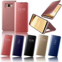 $enCountryForm.capitalKeyWord Australia - Smart View Window Mirror Pattern Flip Phone Case For Samsung Galaxy S7 Edge S8 S9 Plus Note 8 PU Leather+Hard PC Plastic Cover