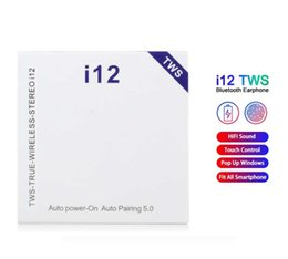 i12 tws V5.0 Auriculares inalámbricos Bluetooth Auriculares estéreo Ture Control táctil Auriculares inalámbricos Auriculares Ventana de expulsión en venta