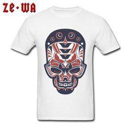 $enCountryForm.capitalKeyWord Australia - Unique Men T-shirt Tattoo Drawing Indian Skull T Shirt Printed Mens Tshirts Special Summer Fall Cotton Clothes Fitness Tops Tees