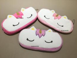 $enCountryForm.capitalKeyWord UK - Cute Kawaii 20CM Approx. Plush Unicorn Plush Stuffed DOLL Toy of Coin Pencil BAG Doll , Unicorn Horse Plush BAG Toy Doll