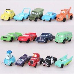 Mini Action Figures 5cm Australia - Hot ! 14pcs Lot BUS Car Automobile Model PVC Action Figure Mini Toy For Child DIY Gifts 3-5CM