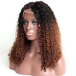 Malaysian Kinky Curly Full Lace Wig Australia - Malaysian Virgin Hair Glueless Full Lace Human Hair Wig 1bT30 Kinky Curl Virgin Hair Lace Front Wigs Kinky Curly For Black Women