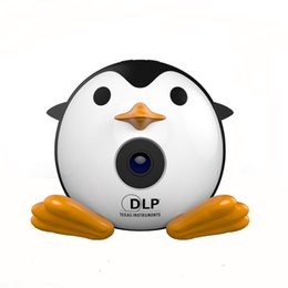 $enCountryForm.capitalKeyWord Australia - 400Lumen Cute Penguin Micro DLP Mobile LED Projector Support 1080P TF USB HDMI AV & IOS Android Input with Battery Built-in