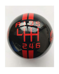 $enCountryForm.capitalKeyWord Australia - Gear 6 Speed Round Ball Type R S Shifter for Mustang Shelby GT 500 Cobra Manual Gear Shift Knob Trim Selector Red White Black (Black, R on t