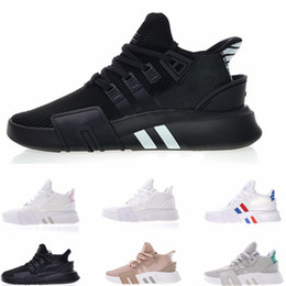 Pink knit fabric online shopping - 2019 EQT Bask Support Future Running Shoes Triple White black pink Mens Womens Sports Knit Chaussures Designer Sneakers Trainers