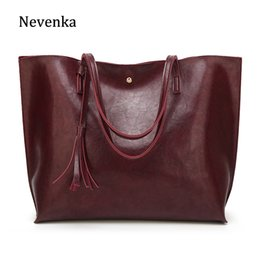 Wholesale Nevenka Women Large Totes Leather Handbags Female Vintage Tote Bag Ladies Big Shopping Bags Ladies Hand Bags For Women J190508