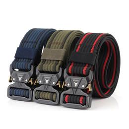 $enCountryForm.capitalKeyWord Australia - 12 Colors Nylon Belt Army Tactical Belt Men Combat Belts Knock Off Emergency Survival Waist Tactical Gear Dropshipping