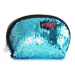 $enCountryForm.capitalKeyWord Australia - Mermaid Sequin Cosmetic Bag For Women Glitter Handbag Fashion Cute Evening Clutch Bag Lady Double Color Reversible Makeup