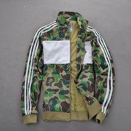 women parka camouflage 2019 - Hot Sale Super Camouflage Jackets Hoodie Clothes Hood By Air Men Outerwear Patchwork Winter Parka Coats Men \' ;S Cl