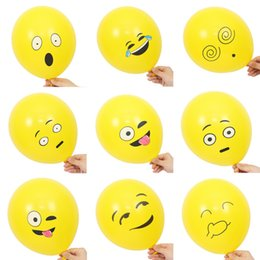$enCountryForm.capitalKeyWord UK - 10pcs set Emoji Balloons Smiley Face Expression Yellow Latex Balloons Party Wedding Ballon Cartoon Inflatable Balls