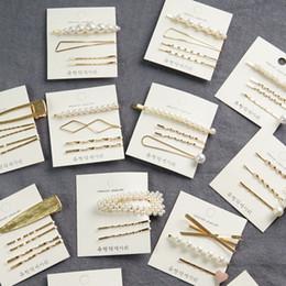 $enCountryForm.capitalKeyWord Australia - 3pcs set Korean Fashion Women Hair Pins Pearl Design Hair Jewelry Vintage Retro Barrettes Clips for Girls Ladies Daily Dressing Decor Gifts