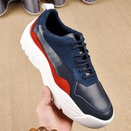 Mens Summer Walking Shoes NZ - Mens Shoes Casual Walking Sneakers Tenis Men Shoes Luxury Zapatos de hombre with Orignal Box Italy Lace-Up Luxury Designer Sale 7hh
