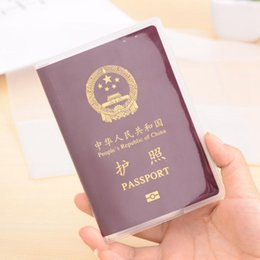 $enCountryForm.capitalKeyWord Australia - Transparent Passport Cover Women Passport Holder Pvc Casual Travel Accessories Credit Id Card Case Business Pass Holder Wallet