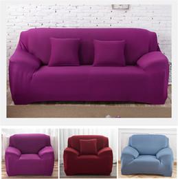 Funda de cojín de color liso Funda de cojín para sofá de sofá elástico Funda de almohada seccional universal lavable para la sala de estar 1 2 3 4 plazas en venta