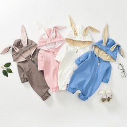 Toddlers onesies long sleeve online shopping - Autumn Winter Fall INS Toddler Baby Boys Hoodies Rompers Cat Ears Jumpsuits Long Sleeve Front Wood Button Newborn Onesies for T