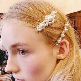 $enCountryForm.capitalKeyWord Australia - 2019 European and American fashion new imitation pearl hairpin French hand-knitted word clip exquisite hair accessories