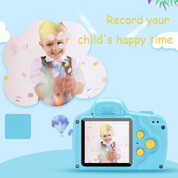 Toys Cameras Australia - Kids Camera P20 Mini Digital Camera Cute Cartoon Cam 1080P Toddler Toys Children Birthday Gift 2 Inch Screen Cam for Kids