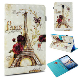 $enCountryForm.capitalKeyWord Australia - Wholesale magentic 3D design popular design pu leather smart cover tablet case for samsung Galaxy Tab T595