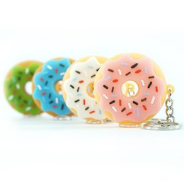 pipe chain smoke Australia - wholesale Donut Style Silicone small Oil Burner Pipes Handcraft Colorful hand Pipe Pyrex Smoking Pipes with key-chain and metal bowl 000