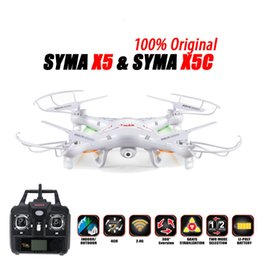 100% Original SYMA X5C (Upgrade Version) RC Drone 6-Axis Remote Control Helicopter Quadcopter With 2MP HD Camera or X5 No Camera on Sale