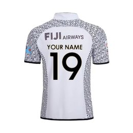Wholesale 2019 FIJI S HOME JERSEY TRAINING SINGLET Fiji rugby jerseys home away national team Fiji shirt size S XL Can print