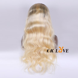 $enCountryForm.capitalKeyWord Canada - 1B 613 Blonde Body Wave Remy Brazilian Wigs Pre Plucked Full Lace Human Hair Wigs for Women OKLove