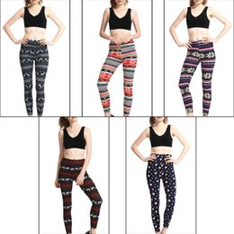 reindeer color Australia - Womens Autumn Skinny Leggings Christmas Snowflake Reindeer Graphic Print Pants