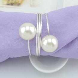 Wedding Favour Decor Australia - Imitation Pearl Metal Napkin Rings Exquisite Round Electroplate Napkins Buckle For Wedding Bridal Shower Favour Party Decor 2 5km B