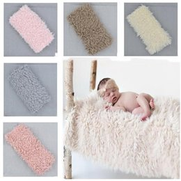 Luggage & Bags Newborn Baby Infant Photo Blankets Faux Fur Rug Photography Props Newborn Swaddle Blanket Baby Accessories 95 X 76cm