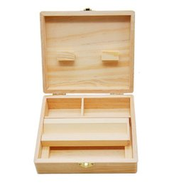 $enCountryForm.capitalKeyWord UK - Newest Square Wood Stash Box Tray Vape Oil Containers Set Wax Bamboo Storage Tobacco Cans Bamboo Wooden wax jars for dry herb grinder