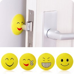 Cartoon Shock NZ - Emoji Anti-shock Pad Door Handle Knob Door Lock Anti-shock Pad Emoji Crash Pad Wall Protector Bumper Stickers Corner Protectors p