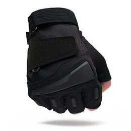 Leather Gloves For Men UK - 2019 sport half refers to outdoor tactical gloves for men's special forces in autumn and winter for fitness, non-slip cycling and fingerless