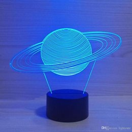 Best solar Batteries online shopping - Creative Baby Sleep Night Lights D USB Solar System Modeling Table Lamp Led Visual Abstract Planet Colorful Fixtures Best Gifts