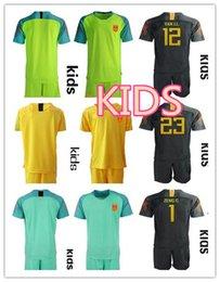 2018 19 China Soccer Jersey Shirts KIDS Short Sleeve Uniforms Football Sets  ZENG G. WANG D.L. YAN J.L. Long Sleeve kids goalkeeper kit 6aa661ce1